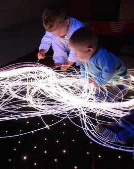 fiber optic sensory lighting