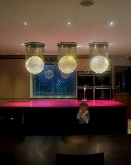 crystal sphere chandelier led and fiber optic fiber optic chandeliers