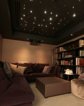 fiber optic star ceiling lounge