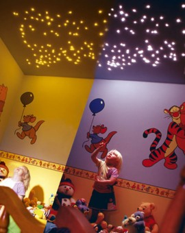 fiber optic star ceiling kids bedroom