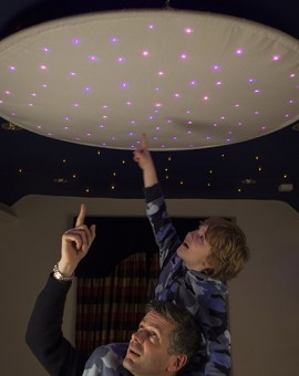 Fiber Optic Star Ceiling Ring Cloth Childrens Room