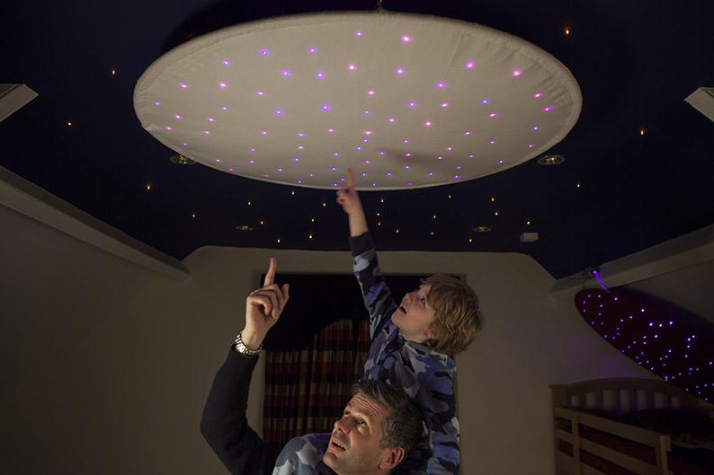 Fiber Optic Star Ceiling Ring Fiber Optic Lighting Kits