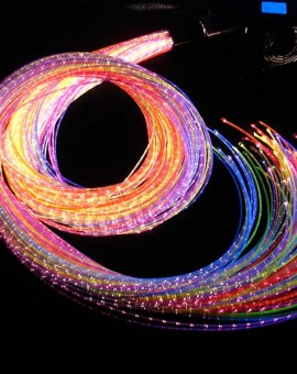 fiber optic UV sensory sideglow lighting