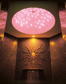 fiber optic sauna crystal lights