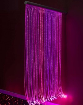 FIBER OPTIC SENSORY WALL CASCADE PINK