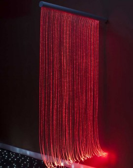 FIBER OPTIC SENSORY WALL CASCADE RED