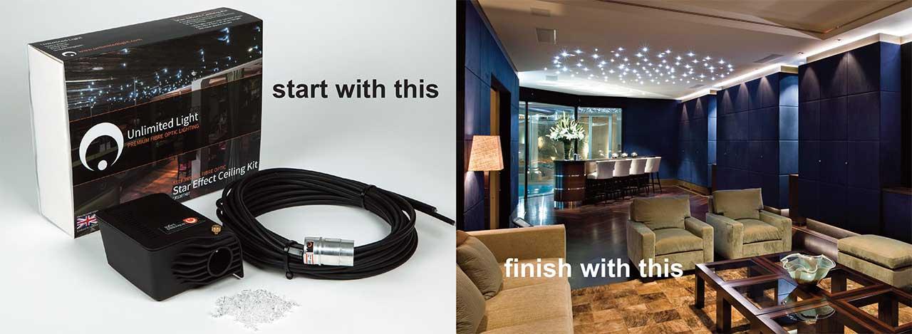 fiber optic lighting kits for the home