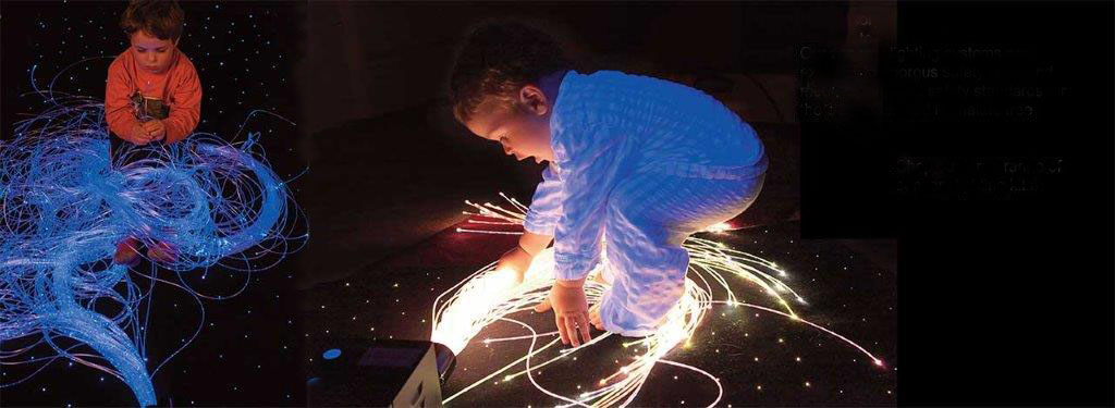 fiber optic sensory lighting children playing